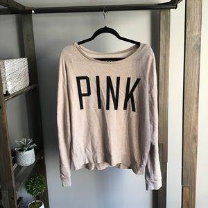 Victoria Secret PINK Rhinestone Sleeve Top